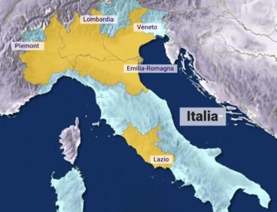 Harta Coronavirus In Italia Cea Mai Afectata Din Europa Harta Online