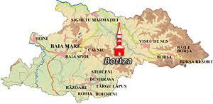 Botiza Un Colt De Rai Din Maramures Romania Harta Online