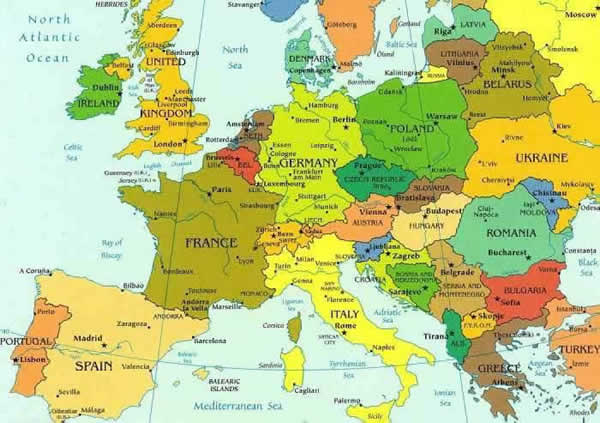 Europa Harta Politica Harta Online