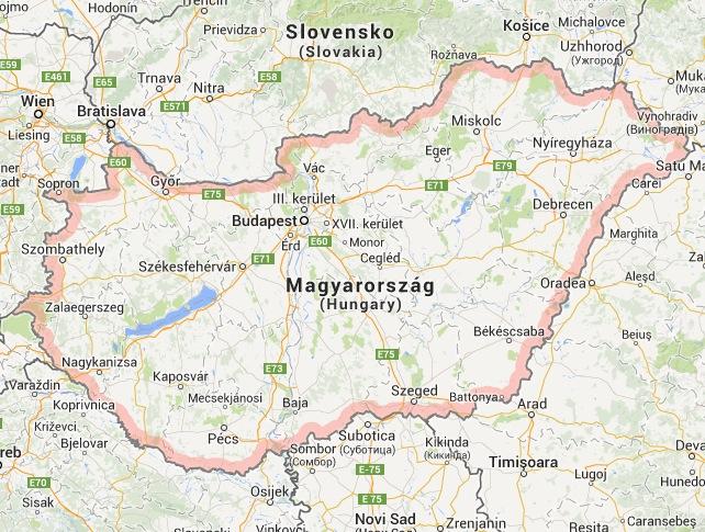 Ungaria Harta Interactiva Harta Online