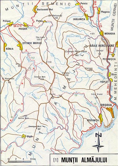 Harta Muntii Almajului Din Caras Severin Harta Online