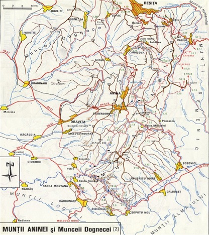 Harta Muntii Aninei Si Munceii Dognecei Harta Online