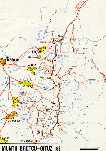 Harta Muntii Bretcu Oituz Din Zona Carpatilor De Curbura Harta