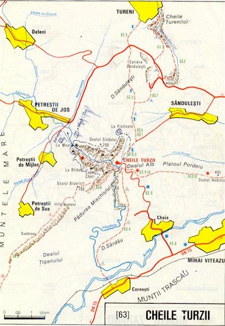 Harta Muntii Cheile Turzii Din Apuseni Harta Online
