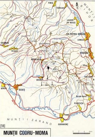 Harta Muntii Codru Moma Din Muntii Bihorului Harta Online
