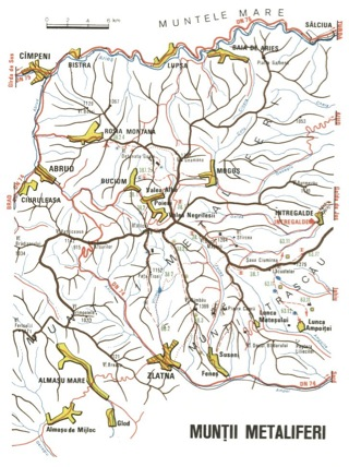 Harta Muntii Metaliferi Din Apuseni Romania Harta Online