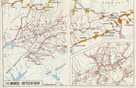 Harta Muntilor Retezat Din Carpatii Meridionali In Romania Harta