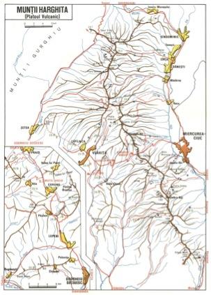 Harta Muntii Harghita Din Platoul Vulcanic Din Carpatii Orientali