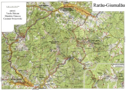 Harta Muntilor Rarau Giumalau Din Nordul Carpatilor Orientali In